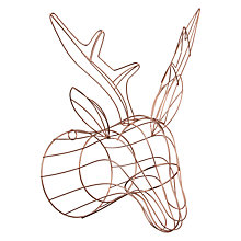 Buy John Lewis Helsinki Copper Wire Deer Head Online at johnlewis.com