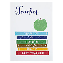Buy Loveday Designs Thank You Teacher Card Online at johnlewis.com