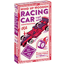 Buy The Construction Club Wind Up Wooden Racing Car Construction Kit Online at johnlewis.com