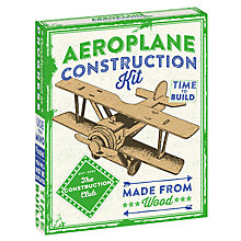 Buy The Construction Club Wood Aeroplane Construction Kit Online at johnlewis.com
