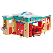 Buy Fireman Sam Electronic Pontypandy Fire Station Set Online at johnlewis.com