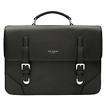 Buy Ted Baker Cross Grain Satchel, Charcoal Online at johnlewis.com