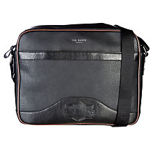 Buy Ted Baker Oscar Embossed Document Bag, Black Online at johnlewis.com