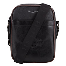 Buy Ted Baker Embossed Small Flight Bag, Black Online at johnlewis.com