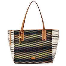 Buy Fossil Emma Tote Bag, Black / Multi Online at johnlewis.com