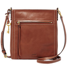Buy Fossil Emma Leather North / South Across Body Bag Online at johnlewis.com
