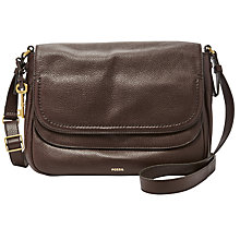 Buy Fossil Peyton Large Leather Double Flap Across Body Bag Online at johnlewis.com