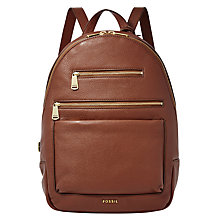 Buy Fossil Piper Leather Backpack Online at johnlewis.com