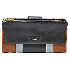 Buy Fossil Ellis Leather Clutch Purse, Neutral / Multi Online at johnlewis.com