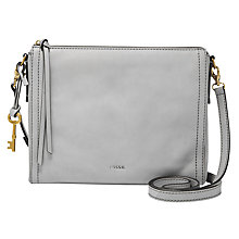 Buy Fossil Emma Leather East / West Across Body Bag, Iron Online at johnlewis.com