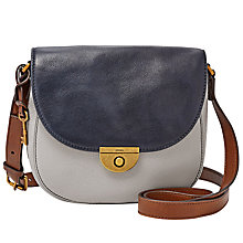 Buy Fossil Emi Leather Saddle Bag Online at johnlewis.com