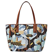 Buy Fossil Emma Tote Bag, Dark Floral Online at johnlewis.com