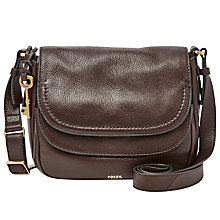 Buy Fossil Peyton Leather Double Flap Across Body Bag Online at johnlewis.com