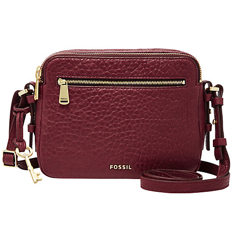 Buy Fossil Piper Toaster Leather Across Body Bag, Wine Online at johnlewis.com