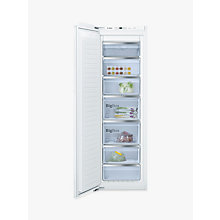 Buy Bosch GIN81AE30G Integrated Upright Freezer, A++ Energy Rating, Frost Free, 62cm Wide, White Online at johnlewis.com