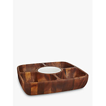 Buy John Lewis Wooden Serving Dish With Ceramic Bowl Online at johnlewis.com