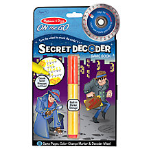 Buy Melissa & Doug Secret Decoder Game Book Online at johnlewis.com