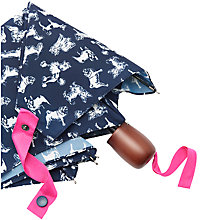 Buy Joules Dog Print Umbrella, Navy/White Online at johnlewis.com