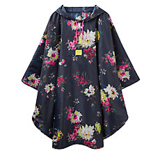Buy Joules Floral Poncho, Navy/Fuchsia Online at johnlewis.com