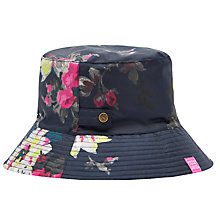 Buy Joules Floral Rain Hat, Navy/Fuchsia Online at johnlewis.com