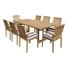 Buy John Lewis Linear Dining Set, FSC-certified (Teak) Online at johnlewis.com