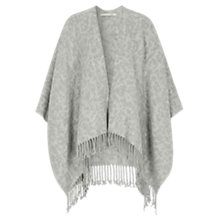 Buy Oui Leopard Print Poncho, White/Grey Online at johnlewis.com