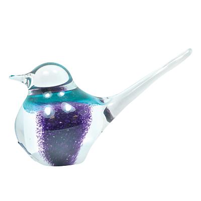 Image of Svaja Basil Bird Ornament, Violet / White