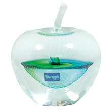 Buy Svaja Forbidden Fruit Small Glass Ornament, Green Online at johnlewis.com