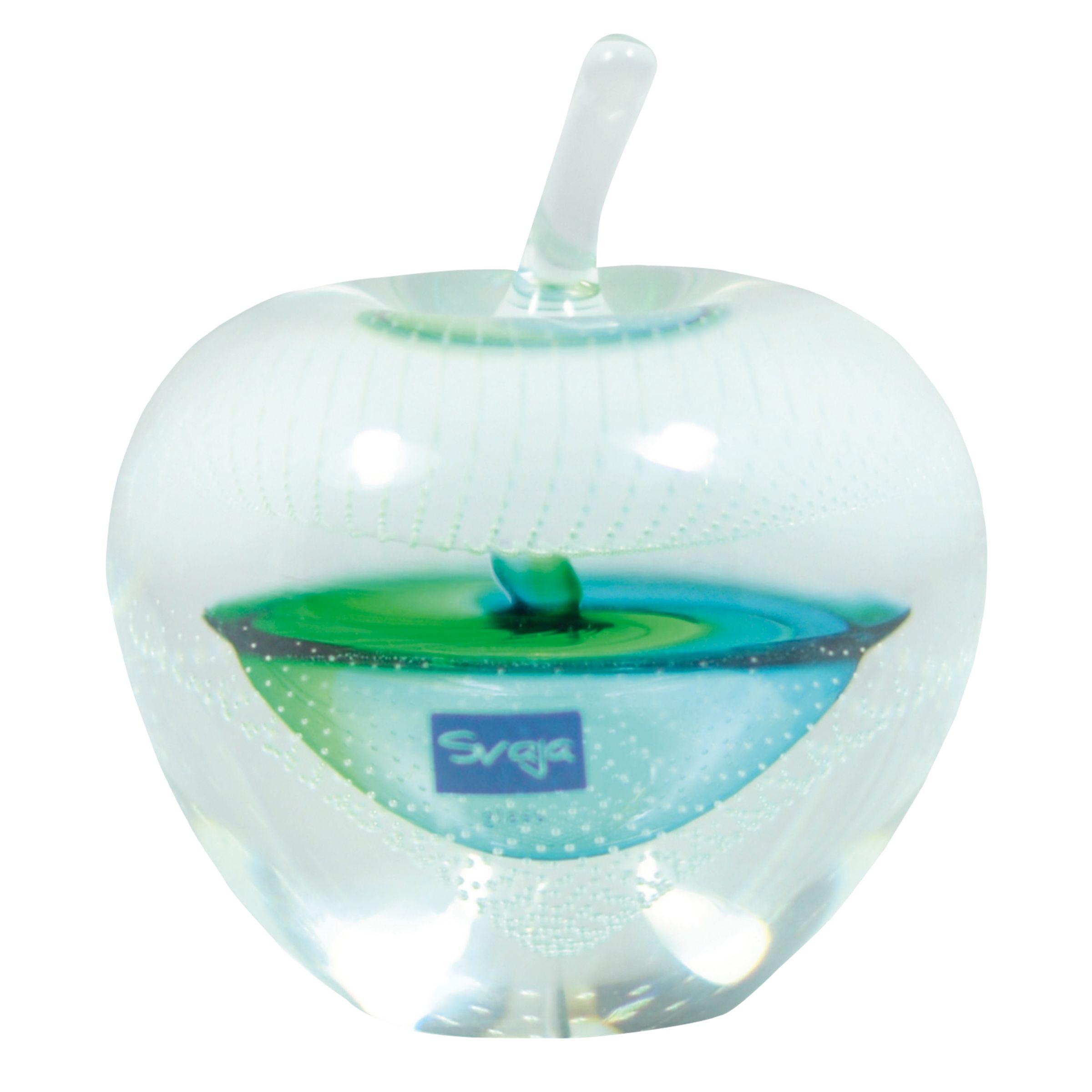 Svaja Svaja Forbidden Fruit Small Glass Ornament, Green