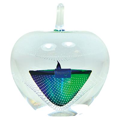 Image of Svaja Forbidden Fruit Medium Glass Ornament, Green