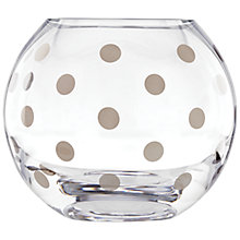 Buy kate spade new york Pearl Place Platinum Rose Vase, Clear/ Silver Online at johnlewis.com