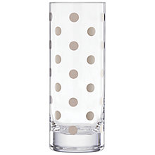 Buy kate spade new york Pearl Place Vase, Clear/ Platinum Online at johnlewis.com