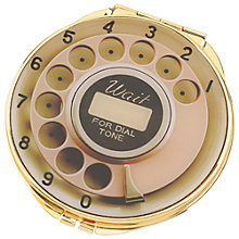 Buy kate spade new york Telephone Compact Mirror, Gold/ Pink Online at johnlewis.com