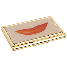 Buy kate spade new york Lips Business Card Holder, Gold/ Pink Online at johnlewis.com
