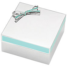 Buy kate spade new york Vienna Keepsake Box, Silver/ Turquoise Online at johnlewis.com
