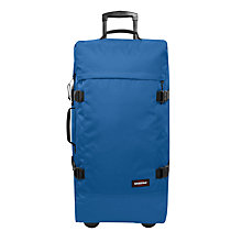 Buy Eastpak Tranverz 2-Wheel Suitcase, Blue Online at johnlewis.com