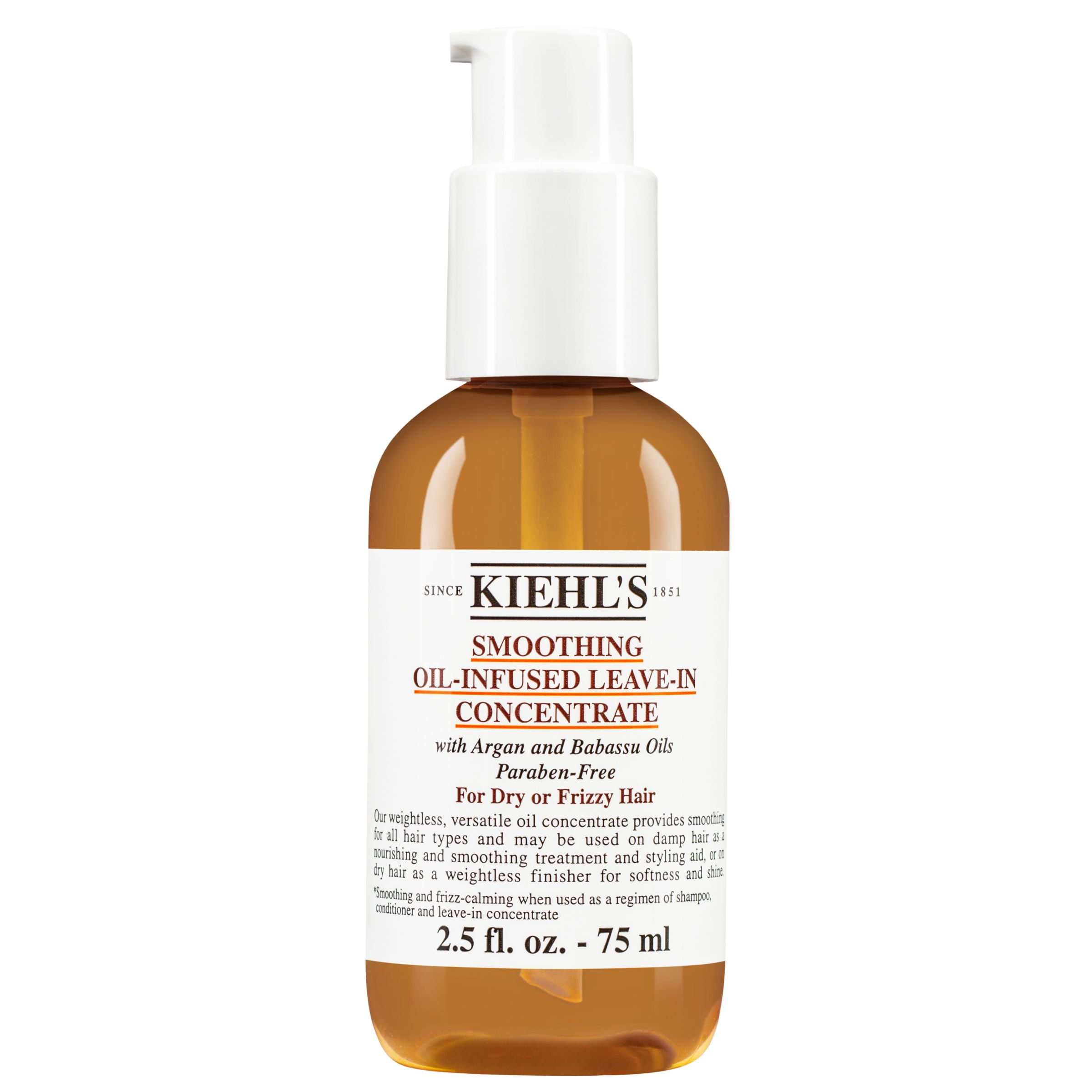 Kiehls Kiehl's Smoothing Oil-Infused Leave-In Concentrate, 75ml