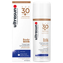 Buy Ultrasun SPF 30 Tinted Body Sun Cream, 150ml Online at johnlewis.com
