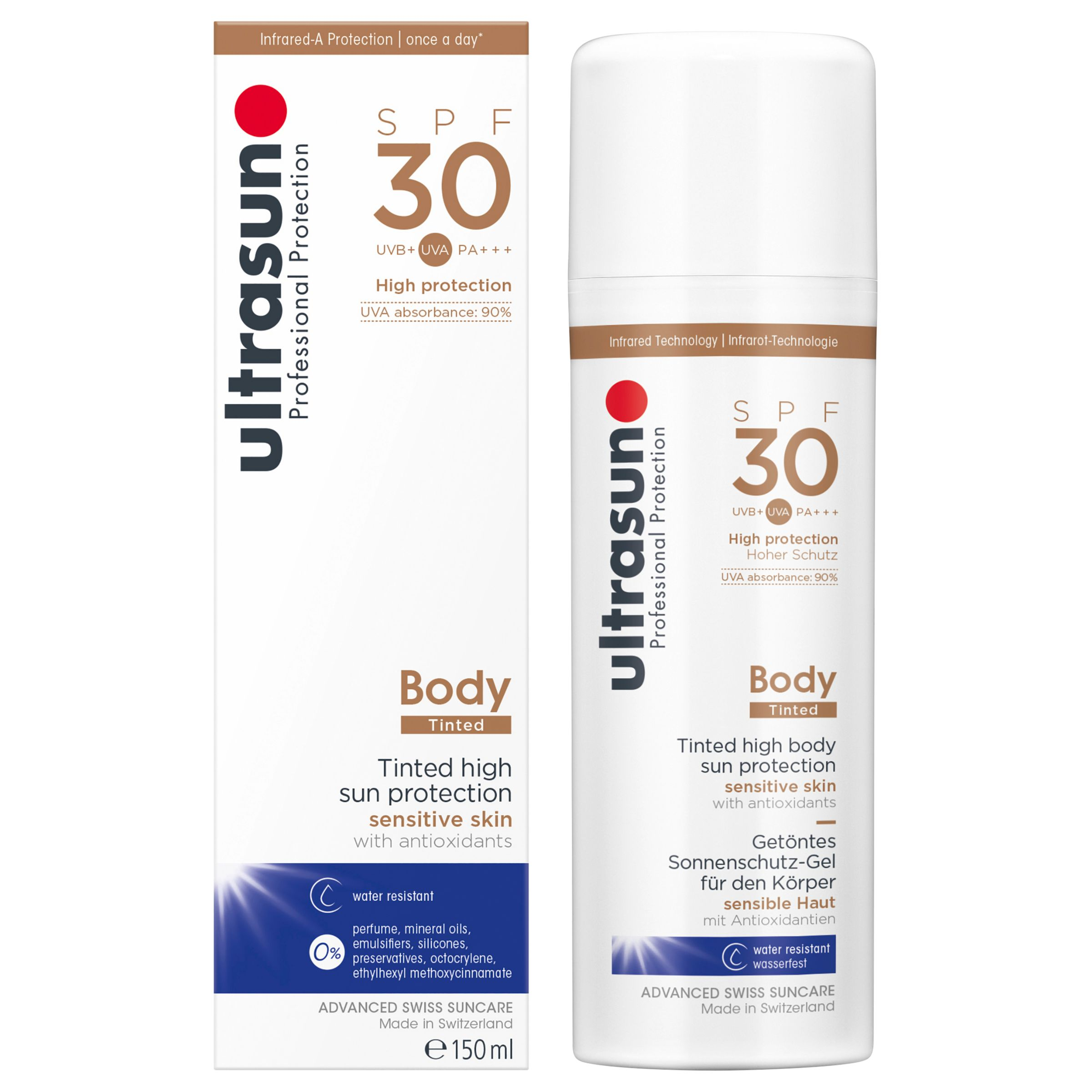 Ultrasun Ultrasun SPF 30 Tinted Body Sun Cream, 150ml