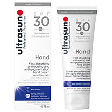 Buy Ultrasun SPF 30 Anti-Pigmentation Hand Cream, 75ml Online at johnlewis.com