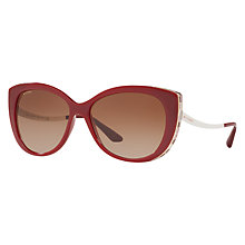 Buy Bvlgari BV8178 Embellished Cat's Eye Sunglasses, Marsala Online at johnlewis.com