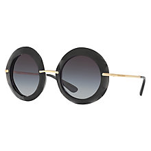 Buy Dolce & Gabbana DG6105 Textured Round Sunglasses Online at johnlewis.com