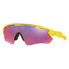 Buy Oakley OO9208 Radar EV Path Prizm™ Road Tour de France Edition Sunglasses, Yellow/Red Online at johnlewis.com