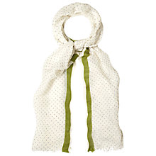 Buy White Stuff Micro Spot Selvedge Scarf, Multi Online at johnlewis.com