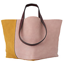 Buy Whistles Java Colour Block Tote Bag, Lilac Online at johnlewis.com