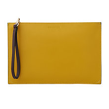 Buy Whistles Java Colourblock Leather Wristlet, Yellow/Multi Online at johnlewis.com