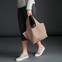 Buy Modern Rarity Ebony Leather Shoulder Bag, Taupe Online at johnlewis.com