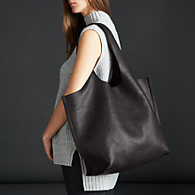 Buy Modern Rarity Ebony Large Leather Shoulder Bag, Black Online at johnlewis.com