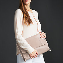 Buy Modern Rarity Ebony Leather Clutch Bag, Taupe Online at johnlewis.com