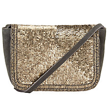 Buy Collection WEEKEND by John Lewis Amelie Sequin Across Body Bag, Grey Online at johnlewis.com